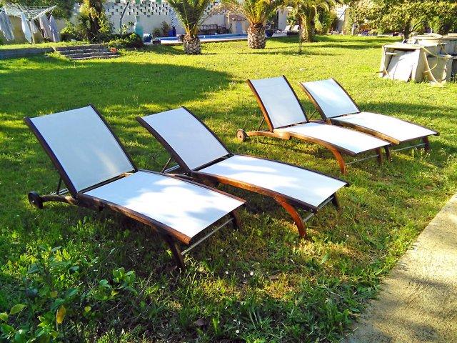 Meubles de jardin en bois stunning meubles de jardin en bois with meubles de jardin en bois - Chaise longue intermarche ...